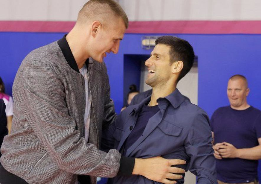 Nikola Jokić i Novak Djoković