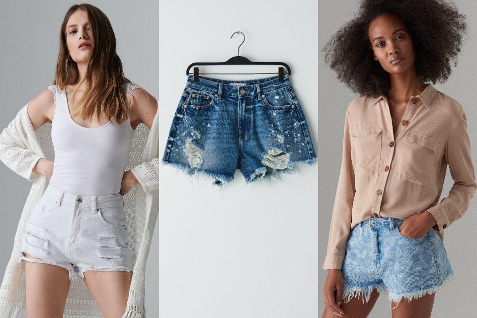 Szorty jeansowe o niebanalnym designie