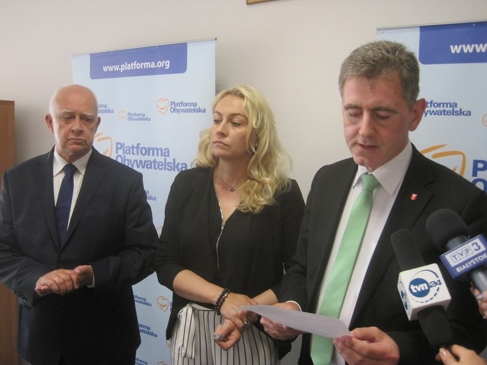 Konferencja PO w sprawie Puszczy Białowieskiej
