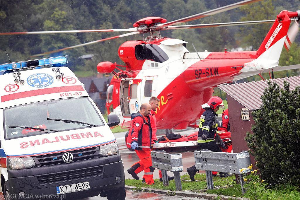 Akcja ratunkowa po burzy w Tatrach.