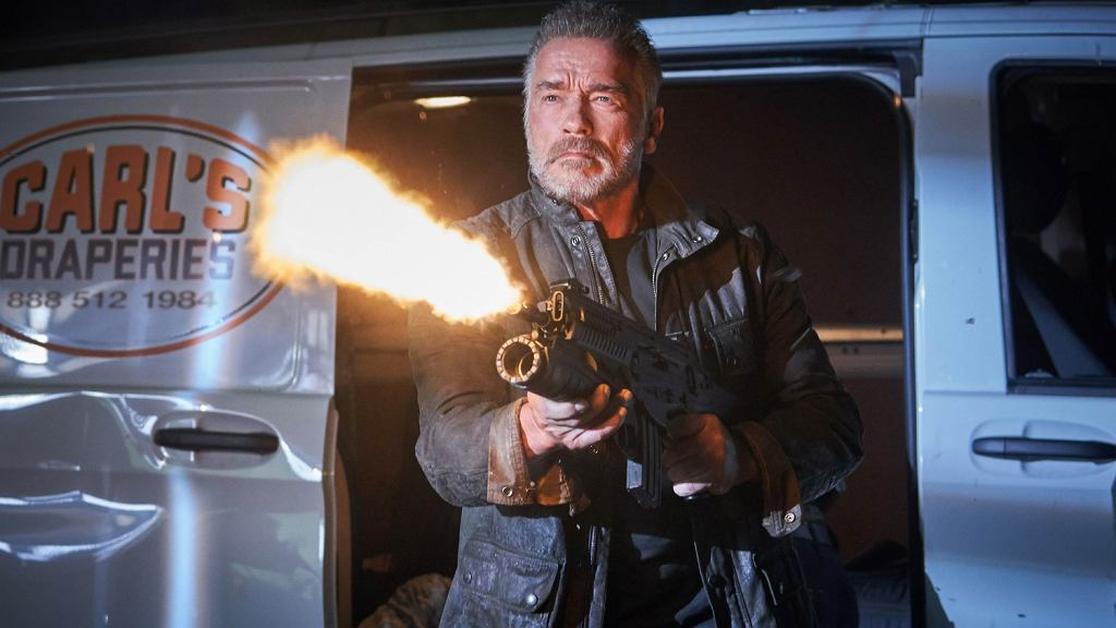 Arnolad Schwarzenegger w filmie 'Terminator: Mroczne przeznaczenie', 2019