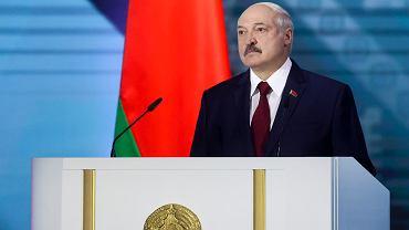 Aleksander Łukaszenka podczas orędzia, 4 sierpnia 2020 r.