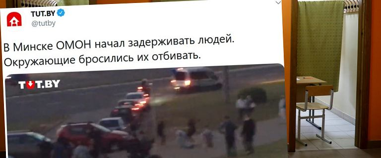 """Protesty po wyborach prezydenckich na Białorusi. """"To jest faszystowski reżim"""""""