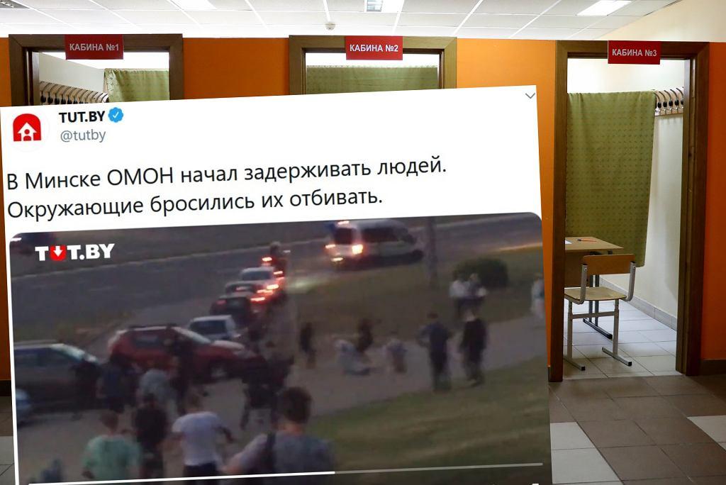Protesty po wyborach prezydenckich na Białorusi