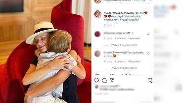 Małgorzata Kożuchowska z dzieckiem