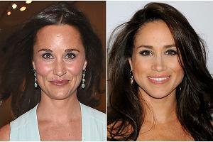 Meghan Markle, nowa dziewczyna księcia Harry'ego, wielu osobom przypomina Pippę Middleton, która przed laty była z nim łączona. Jeden z internautów pokusił się nawet o porównanie, że aktorka wygląda dokładnie jak siostra księżnej Kate, a jedyną rzeczą, jaka je różni, są brwi. Przyjrzyjcie się ich twarzom. Też uważacie, że są do siebie podobne?