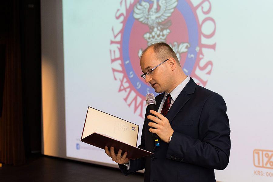 Michał Niemirowicz-Szczytt ze Związku Szlachty Polskiej
