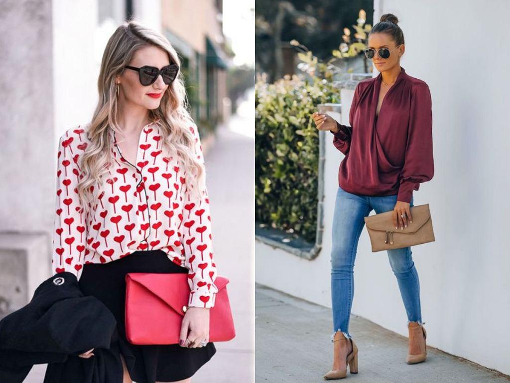 Eleganckie bluzki kopertowe