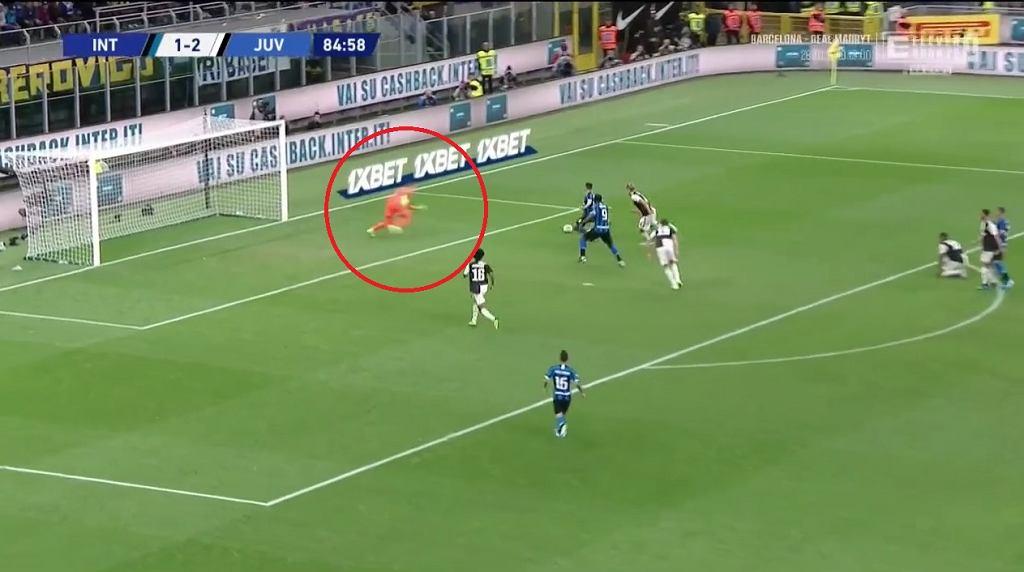 Wojciech Szczęsny w meczu Inter - Juventus