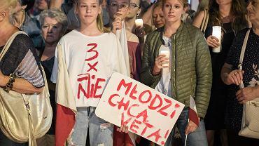 Lublin, lipcowy protest przeciwko zmachowi na niezależne sądownictwo