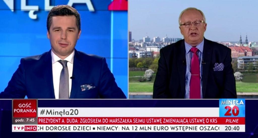 Roman Sklepowicz w TVP Info