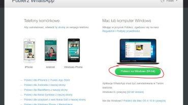 WhatsApp do pobrania na Windows i OS X
