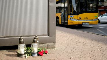 Miejsce w pobliżu, którego doszło do tragicznego wypadku w Katowicach