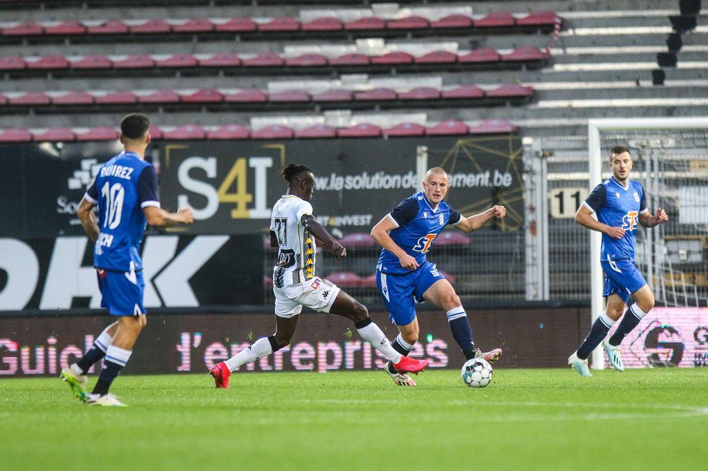 Lech Poznań w meczu z Charleroi