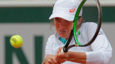Iga Świątek podczas półfinału turnieju Rolanda Garrosa