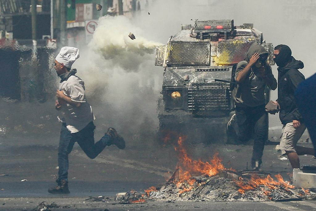 Chile. Protesty antyrządowe.