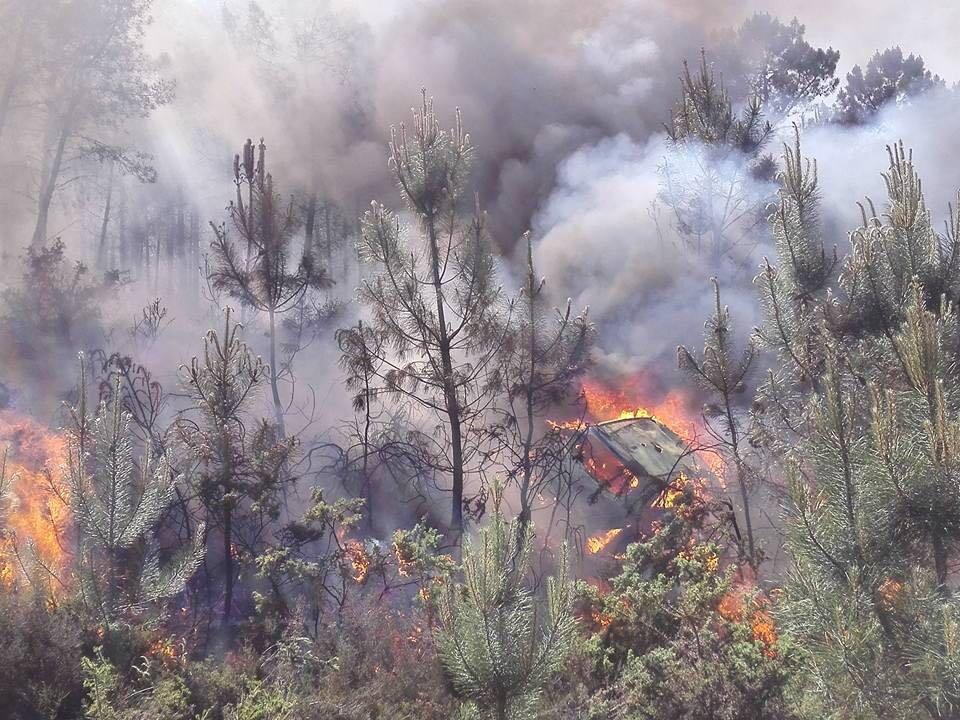 Płonie auto Haydena Paddona
