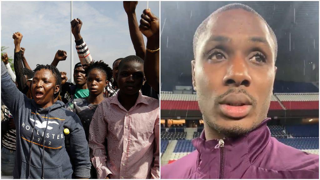 Protesty w Lagos i Odion Ighalo