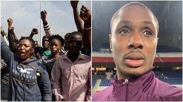 Protesty w Lagos i Odion Ighalo
