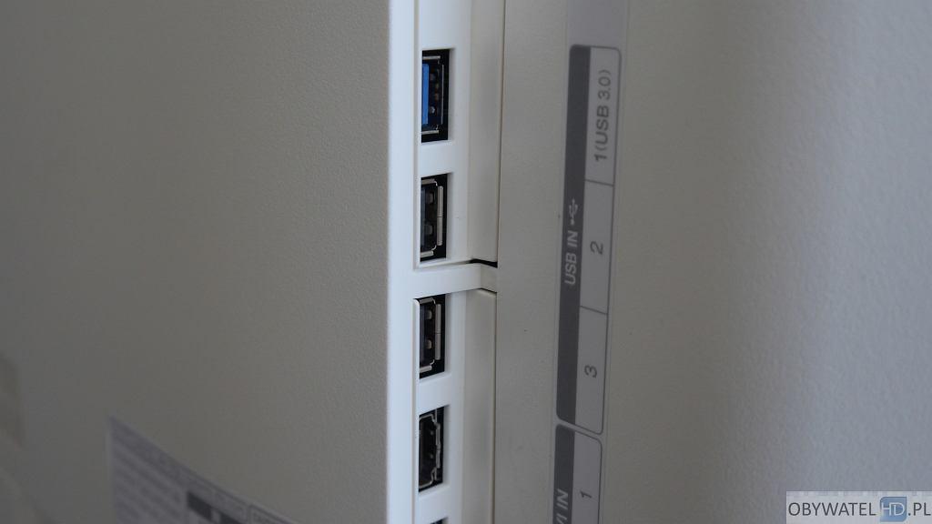 LG EG960V OLED 4K - złącza USB 3.0