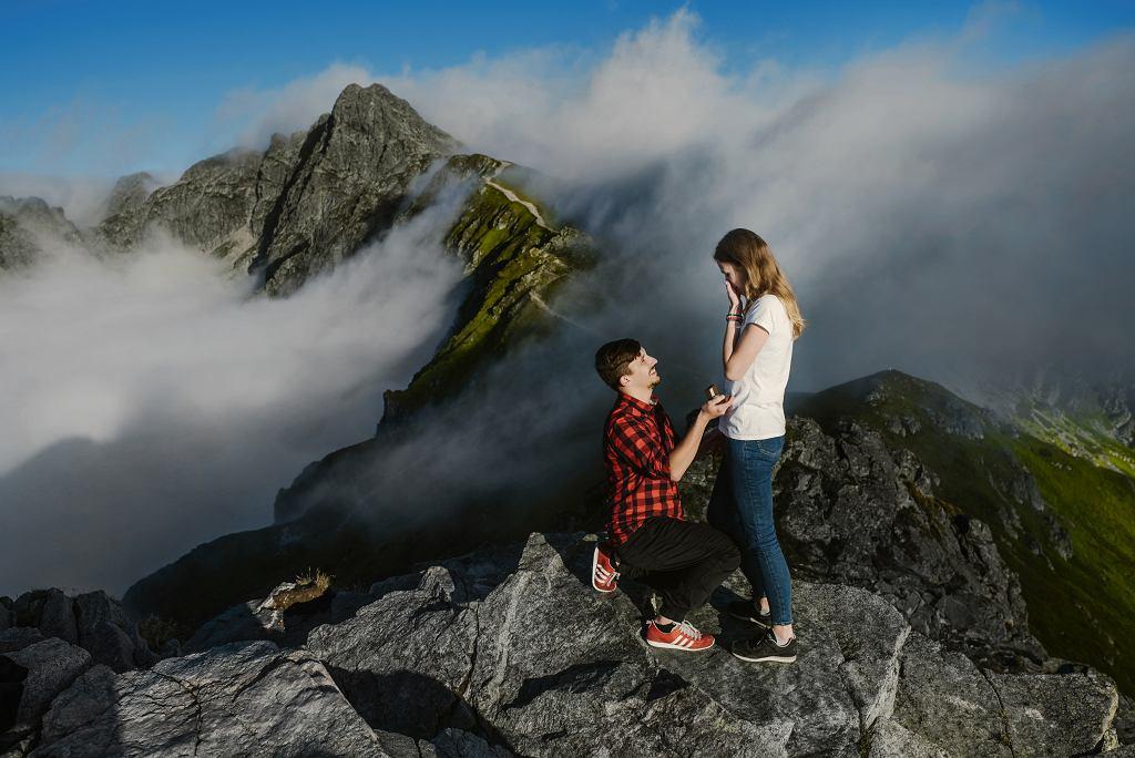 Zaręczyny Ani i Andrzeja na Kasprowym Wierchu