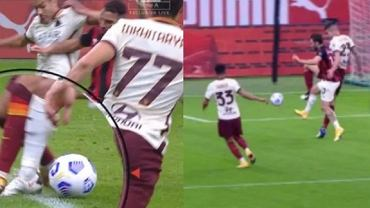 Koszmarne pomyłki arbitra w meczu AC Milan - AS Roma, w którym podyktował dwa skandaliczne rzuty karne