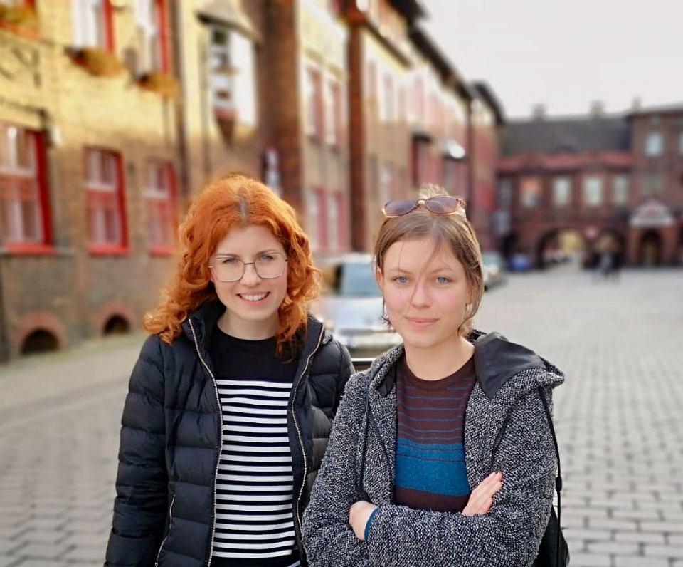 Mentorka w programie Jutronauci Agnieszka Labus (z lewej) i stypendystka Władka Kijewska (z prawej)