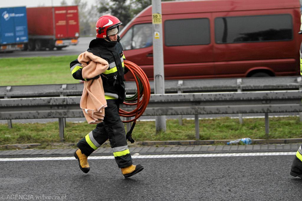 Tragiczny początek dnia. Na autostradzie A1 doszło do dwóch wypadków (fot. ilustracyjna)