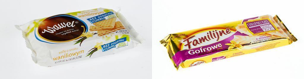 Wafelki bez cukru vs wafelki Familijne