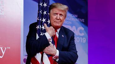 Prezydent Stanów Zjednoczonych Donald Trump podczas konferencji CPAC w Oxon Hill w stanie Maryland, 2 marca 2019