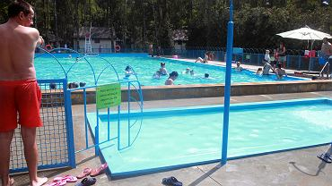 Nowe baseny i plac zabaw w parku kultury w Powsinie