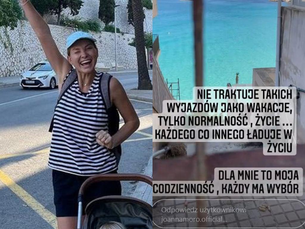 Joanna Moro na wakacjach