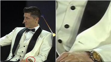 Lewandowski z luksusowym zegarkiem na gali w Dubaju