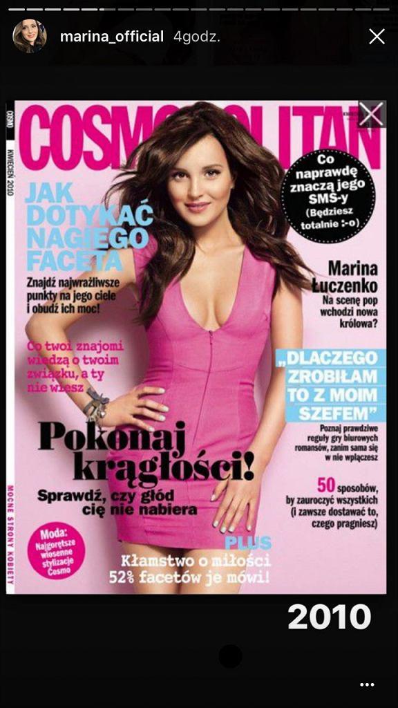 Marina na okładce magazynu Cosmopolitan w 2010 roku