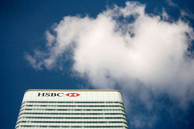 !The HSBC building in Canary Wharf