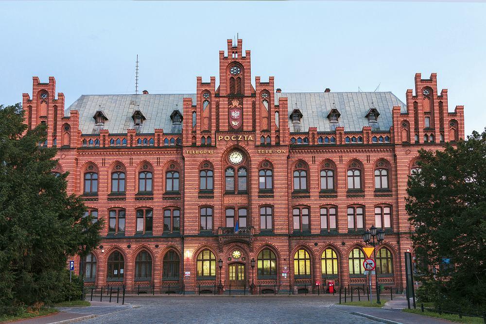 Neogotycki budynek Poczty Głównej