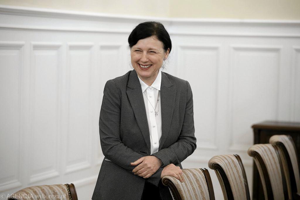 Spotkanie w Warszawie wiceprzewodniczącej Komisji Europejskiej Very Jourovej z ministrem sprawiedliwości Zbigniewem Ziobrą