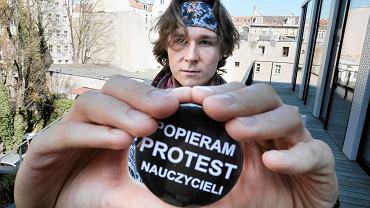 Kacper Przybylski-Pacyk z Solidarnych Uczniów