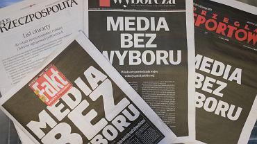 Protest 'Media bez wyboru'