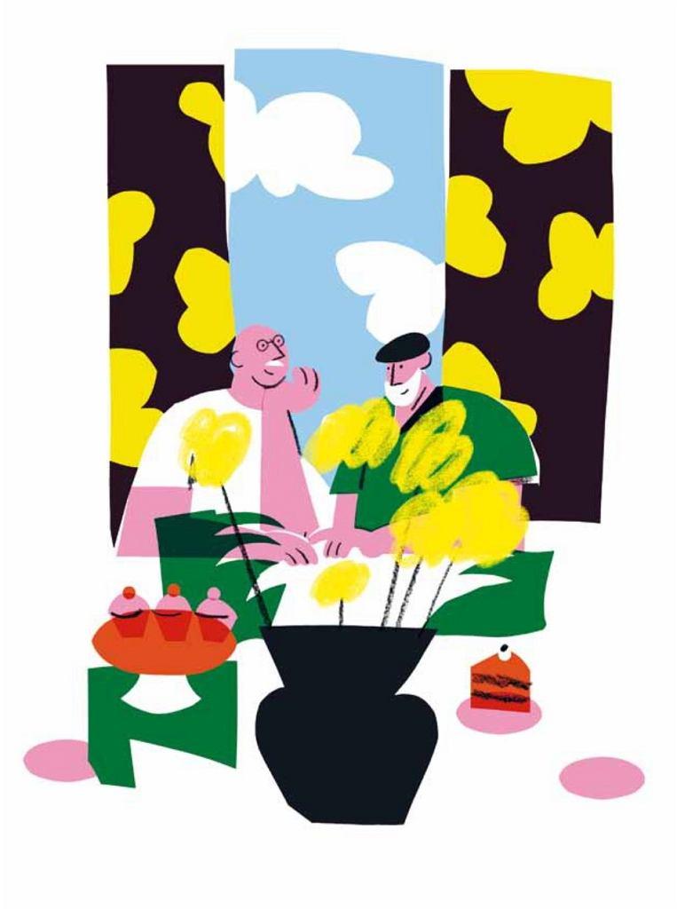 Ilustracja do opowiadania 'Dziadek wyszedł z szafy?' Anny Onichimowskiej z książki  'Wszystkie kolory świata'