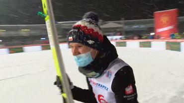Andrzej Stękała cieszy się z drugiego miejsca w Zakopanem