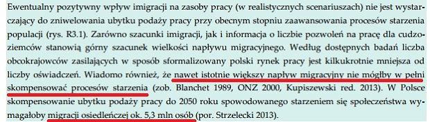 Fragment raportu NBP o polskim rynku pracy