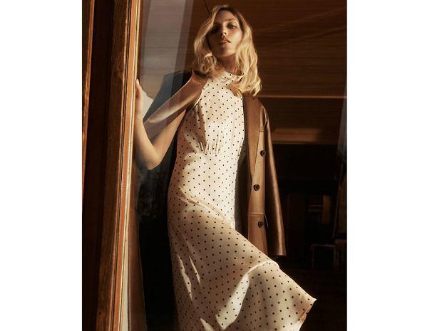 Zara 2020 sukienka w groszki