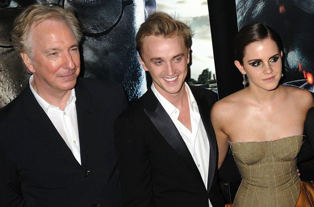 Alan Rickman, Tom Felton, Emma Watson