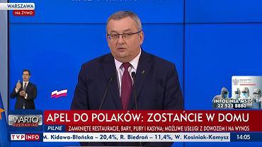 Minister Infrastruktury Andrzej Adamczyk poinformował, że wszystkie przesyłki pieniężne: emerytalne i rentowe zostaną doręczone