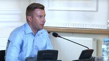 Kamil Kobylarz podczas przesłuchania