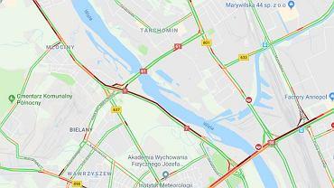 Utrudnienia ruchu po wypadku w Warszawie