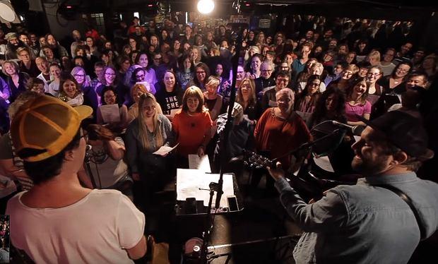 Choir! Choir! Choir! sings Cyndi Lauper 'Time After Time'
