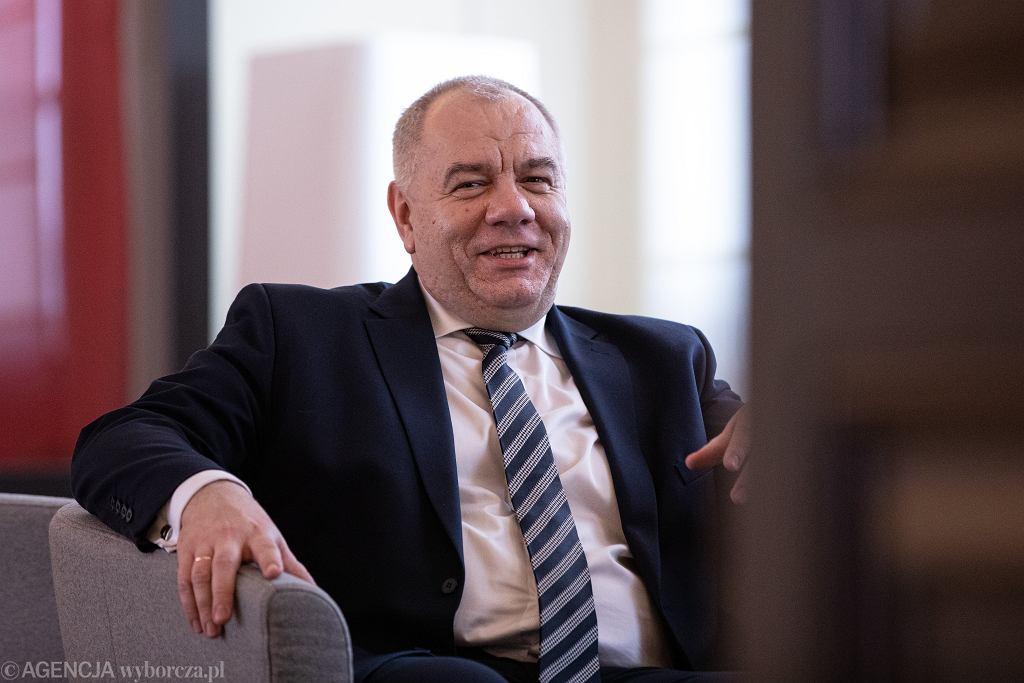 Minister aktywów państwowych w rządzie PiS Jacek Sasin podczas posiedzenia Rady Ministrów. Warszawa, 10 marca 2020