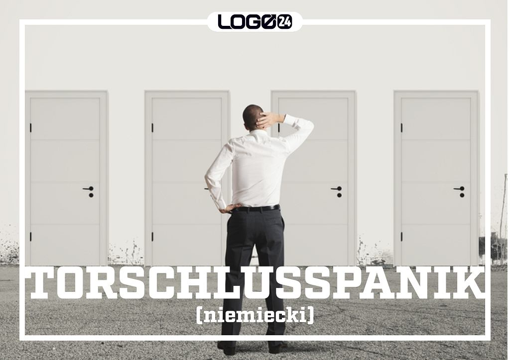 Torschlusspanik (niemiecki) - skład się z trzech wyrazów: tor - brama, tu raczej drzwi; schluss - zamknięcie; panik - panika. Dosłownie: strach przed zamkniętymi drzwiami. Jest to strach przed tym, że nie zdążymy z czymś bardzo ważnym.